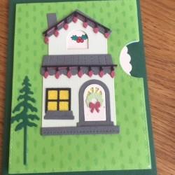 Greeting card christmas house
