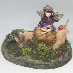 Fairy on snail