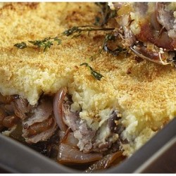 Duck Parmentier with...