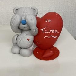 Grey bear figurine