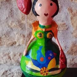 Skulptur Pappmaché Belle...