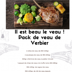 The veal is beautiful! Pack...