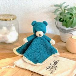 Milo bear crochet cuddly toy