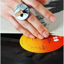 Leather and vinyl ring