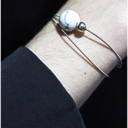 Guitar string bracelet with...