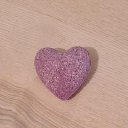 Lavendelherz-Badebombe