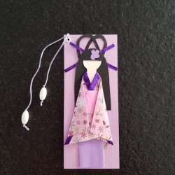 Segnalibri Geisha rosa e parma