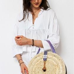 Round straw basket