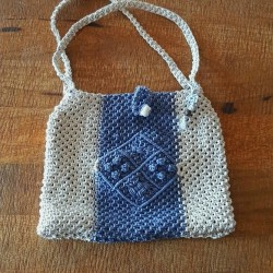 Macrame Bag Navy
