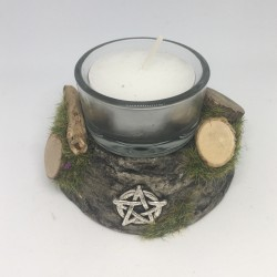 Candle holder: pentacle