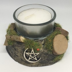 Candle holder: moon and...