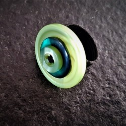 Apple Green Button Ring