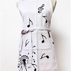 Apron with musical motif