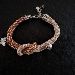 Kumihimo Ochre Bracelet