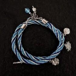 Blue Kumihimo Bracelet