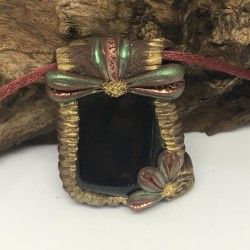 Necklace with black tourmaline