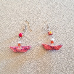 Earring Origami Small Boats